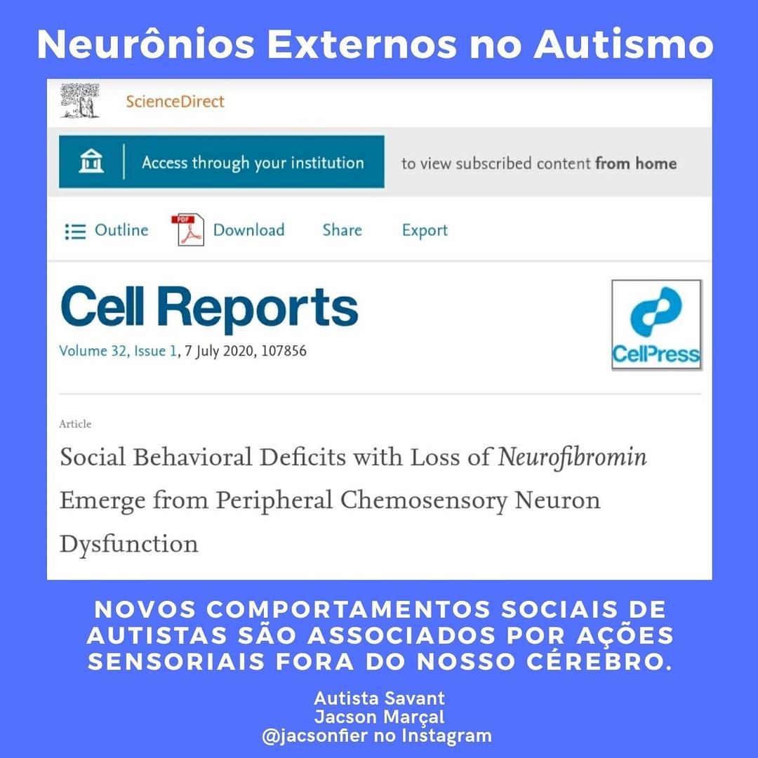 Novos comportamentos sociais de autistas são associados por ações sensoriais fora do nosso cérebro.