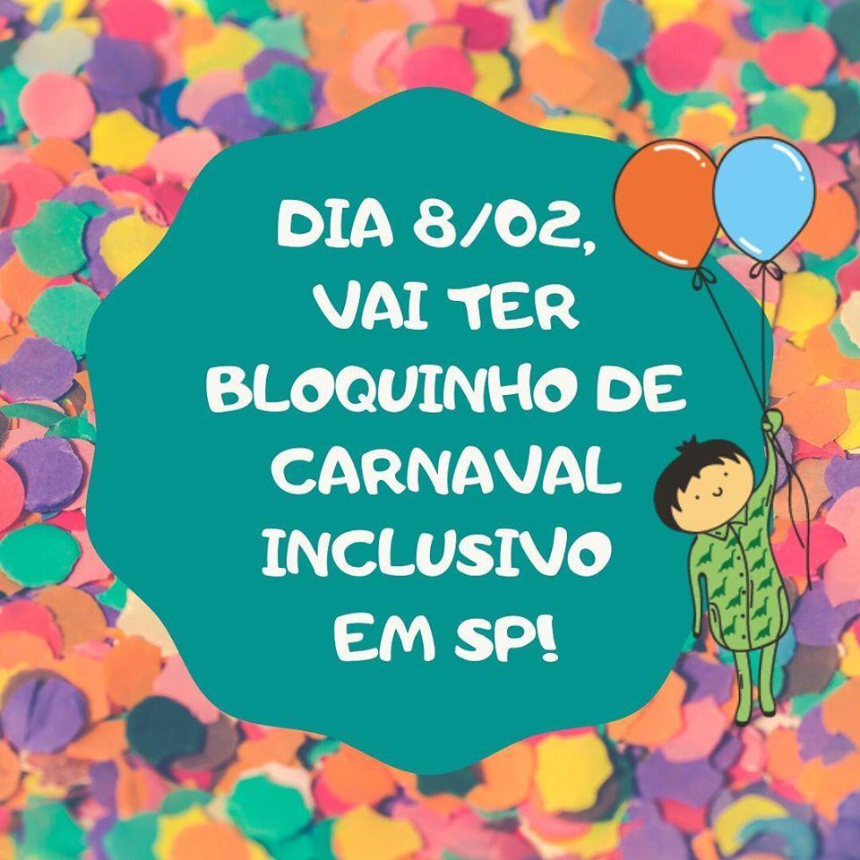 Carnaval em São Paulo vai ter bloquinho inclusivo