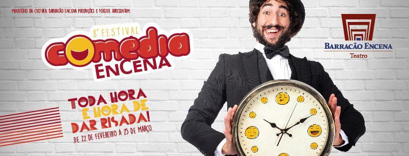 8º Festival Comédia EnCena traz apresentações com intérprete de libras e audiodescrição.