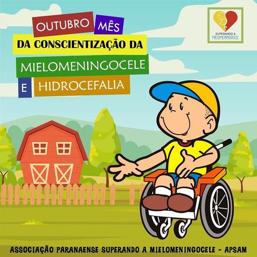 Mês de conscientização da mielomeningocele e Hidrocefalia.
