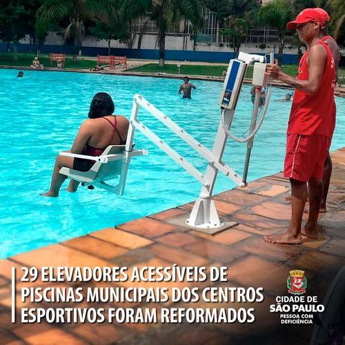 SP: 29 elevadores de piscinas para PCDs são reformados