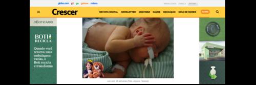 G1_REVISTA CRESCER - Viver em uma UTI Neonatal é experimentar todos os dias um intenso estresse emocional
